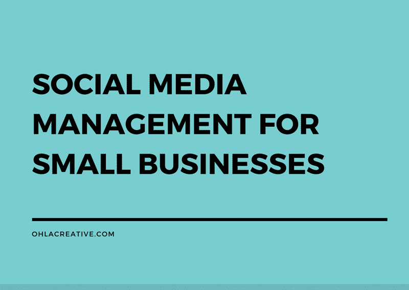 Social Media Management For Small Businesses