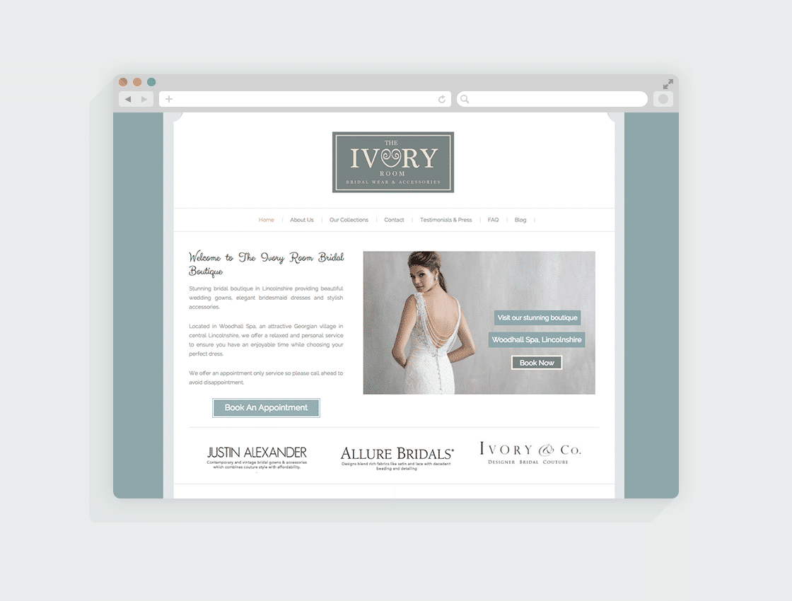 Bridal Wear Website Design