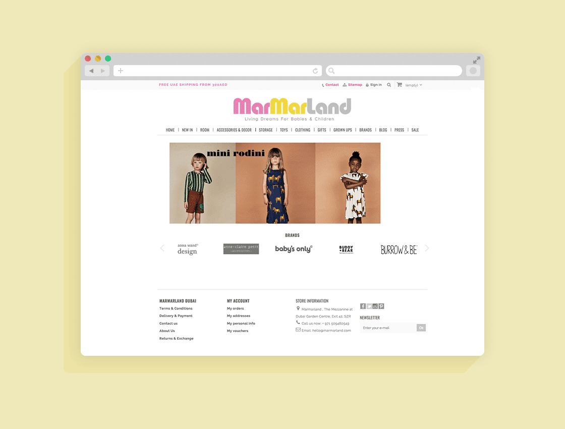 Ecommerce Store Website Design