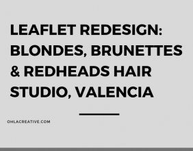 Leaflet Redesign for Blondes, Brunettes & Redheads Hair Studio
